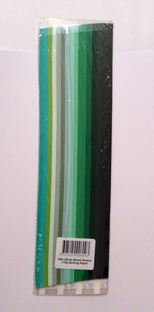 500 Strips 3mm Quilling Paper (110GSM) 8 multicolor & 27 single colors /U select - Green Colours