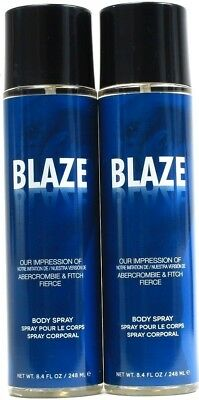 2 Preferred Fragrance Blaze Impression Of Abercrombie & Fitch Fierce Body Spray for sale  Shipping to India