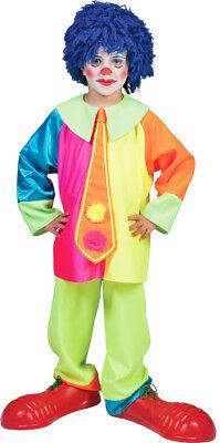 Neonfarbene Kostüme (Clown Darry Kostüm für Kinder - Zirkus Party Anzug in Neonfarben für Fasching)