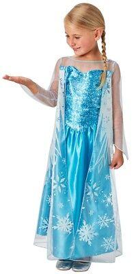 Frozen Elsa Kinderkostüm Classic NEU - Mädchen Karneval Fasching Verkleidung Kos (Verkleidung Elsa Kostüm)