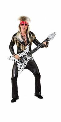 Glam Rock Herren Kostüm Rockstar Hose Shirt Fransen - Rockstars Kostüm