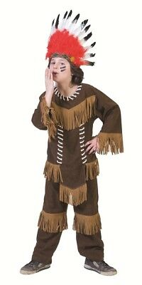 Indianer Cheyenne Kostüm für Jungen Cowboy Western Party Anzug Gr 140 152 - Cowboy Kostüm Für Jungen
