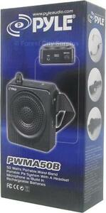 QUALITY PYLE PORTABLE HANDS FREE 50 WATT PA SYSTEM COMPLETE WITH HEADSET MICROPHONE
