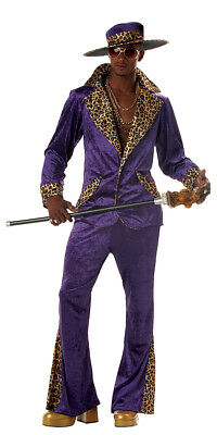 70s & 80s Sweet Daddy Pimp Mens Adult Costume (Men 80s Costumes)