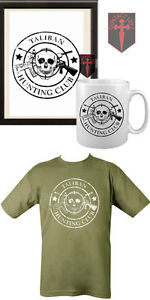 TALIBAN-HUNTING-CLUB-A4-Poster-Mug-and-T-SHIRT-All-Sizes-Army-Green