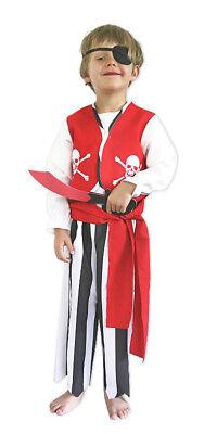 �m William - Seeräuber Anzug Säbel und Augenklappe für Jungen (Piraten Kinder Kostüme)