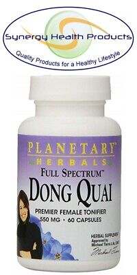 Planetary Herbals Full Spectrum Dong Quai 550 mg 60 Capsules - Female Tonifier