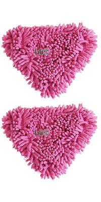2 x Korallenbezug Tuch Korallen Bezug Dampfreiniger Chenille Korallentücher
