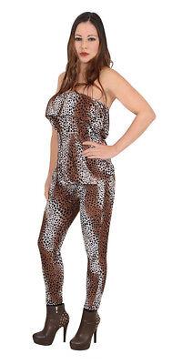 Leopard sexy Damenkostüm Gr.S  Tierkostüm Karnevalkostüm Kostuem 2tlg. - Leopard Kostüm Damen
