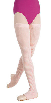 """New Body Wrappers 92 Theatrical Pink 48"""" Stirrup Leg Warmers Adults"""