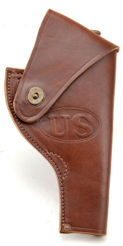 US Smith & Wesson Victory Model Revolver Holster in Brown Leather .38 Special
