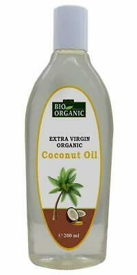 Indus Valle Bio Orgánico Extra Virgin Aceite Coco Orgánico Pelo Piel 200ml