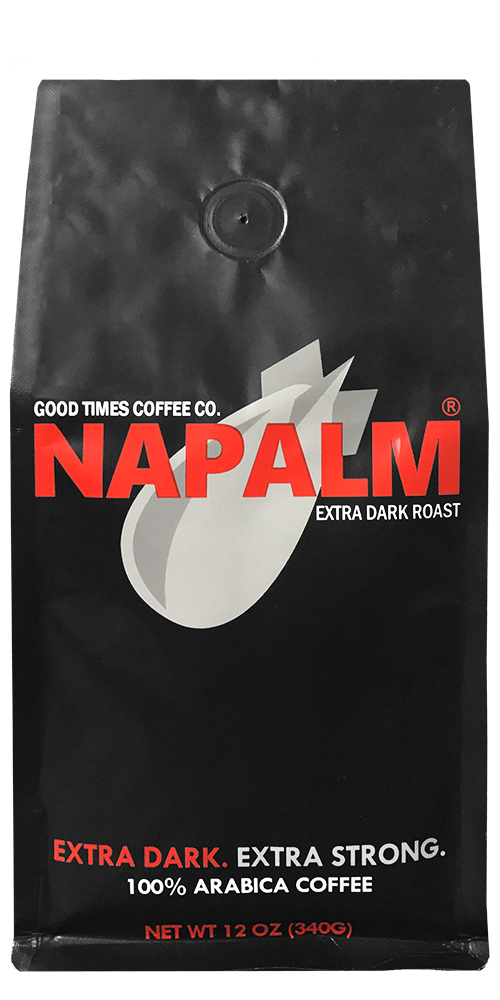 Napalm Coffee Extra Dark Roast Ground Bagged Coffee 100% Arabica, 12 Ounce