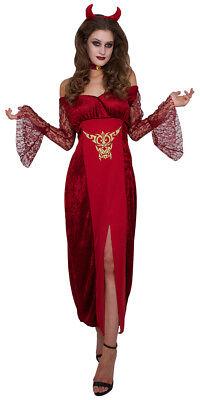 Damen Teufel Halloween-kostüm (Teufel Teufelin Damenkostüm Halloweenkostüm S/M/L/XL Karneval Fasching Halloween)