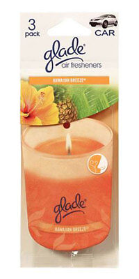 - Glade Paper Candle Hanging Car and Home Air Freshener, Hawaiian Breeze-Pack of 3