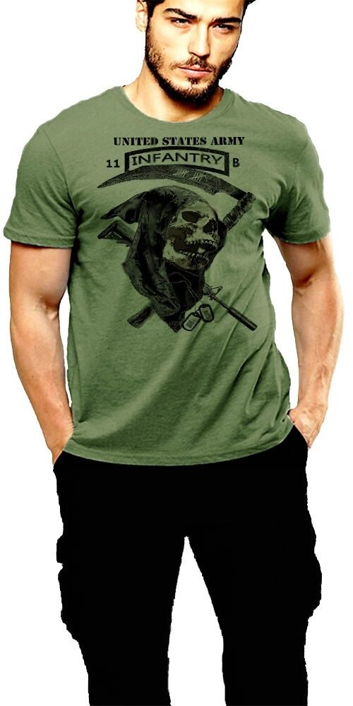 US Army Infantry T-Shirt 11 Bravo Grunt Hardcore Military Tee Army Strong Combat