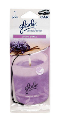 Lavender Car - Glade Paper Candle Hanging Car and Home Air Freshener, Lavender & Vanilla Scent