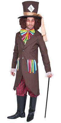 Verrückter Hutmacher MAD HATTER Herrenkostüm Karneval Fasching Kostüm Gr.M- - Mad Hut Kostüm