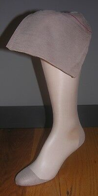 "3 Vintage seamed nylon stockings 10 1/2  X 31.5"" Taupetone reenactment 40s swing"