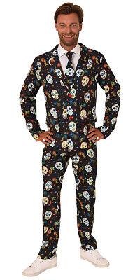 Anzug Halloween Herrenkostüm Senor Muerto Karneval Kostüm 4 - Halloween Herren
