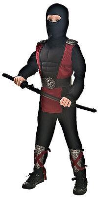 Ninja Kämpfer Kinder Kinderkostüm Gr.128 Samurai mit Schwert Karnevalskostüm