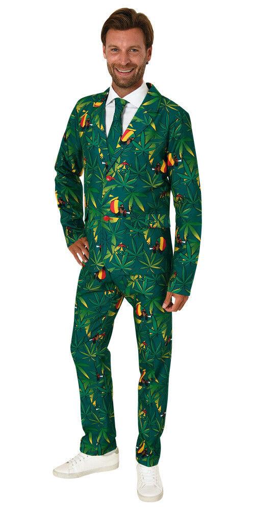 Anzug Cannabis Hanf Gras Karneval Smoking Herrenkostüm Kostüm 4 Gr. Markenware