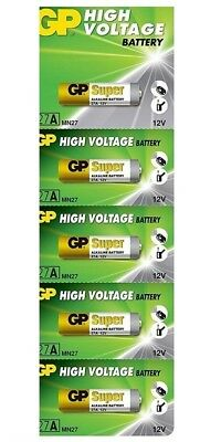 5 Pcs GP 27A GP27A 12V Alkaline Remote Battery