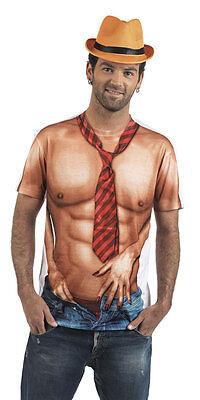 Sexy Stripper Shirt Deluxe NEU - Herren Karneval Fasching Verkleidung Kostüm ()