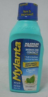 Mylanta Maximum Strength Antacid, Classic Flavor, 12 (Mylanta Maximum Strength)
