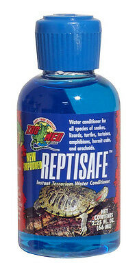 ZOO MED REPTISAFE 2.25 OZ WATER CONDITIONER REPTILE TURTLE FREE SHIPPING IN USA