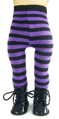 WITCH Boots & Purple Striped Tights for 18