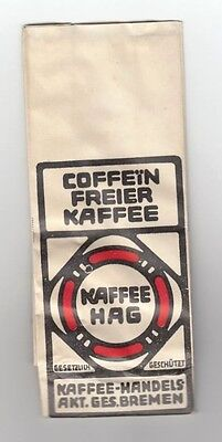 1920s Style Purses, Flapper Bags, Handbags PC 1920s Estonia Germany Rare ORIGINAL HAG Decaf Coffee Paper Sachet Package Bag $14.99 AT vintagedancer.com