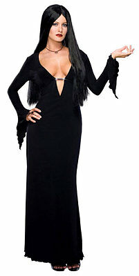Morticia Addams Family Gothic Vampire Witch Dress Halloween Sexy Adult Costume - Morticia Addams Dresses