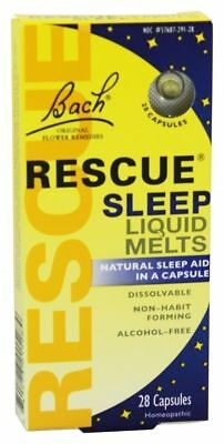 Bach Flower Essences Rescue Remedy Sleep Liquid Melts, 28 caps NATURAL SLEEP