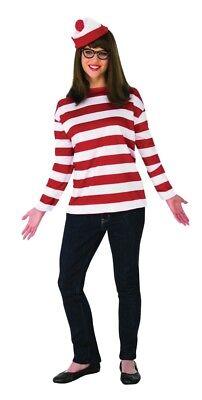 Where's Waldo Wenda Plus Deluxe Costume Shirt & - Waldo Wenda Kostüme