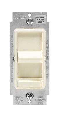 Leviton 6633-1LT 600W 120V Slide Dimmer, Light Almond