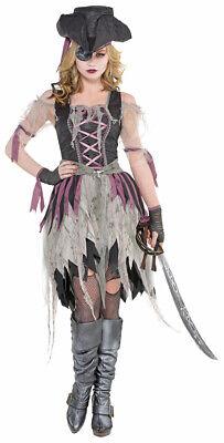 Gruselige Piratenmaid Kostüm für Damen - Geist Zombie Piratin Halloween - Geist Kostüm Für Damen