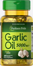 Puritan's Pride Garlic Oil 5000 mg - 100 Rapid Release Softgels