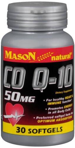 Mason Natural CO Q-10, 50 MG, 30 Softgels