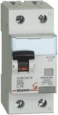 BTicino GC8813AC16 Interruptor MCB Diferencial 16A