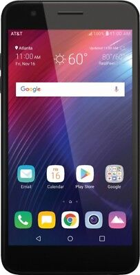 AT&T Prepaid - LG Phoenix 4 with 16GB Memory Prepaid Cell Phone - Black