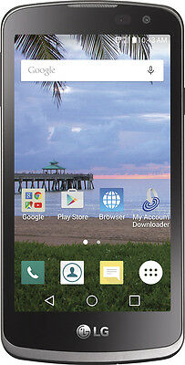 Tracfone   Lg Rebel L44vl 4G Lte With 8Gb Memory Prepaid Cell Phone   Gray