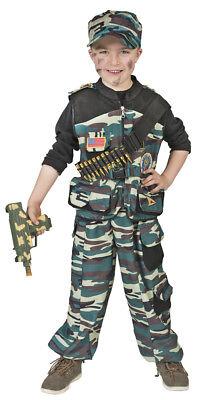 Kampftruppen Soldat Kostüm für Kinder - Krieger Tarnanzug Karneval - Kampf Kostüm