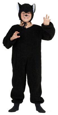 BLACK CAT PLUSH CHILD COSTUME KITTY FARM ZOO ANIMAL KIDS JUMPSUIT BOY GIRLS