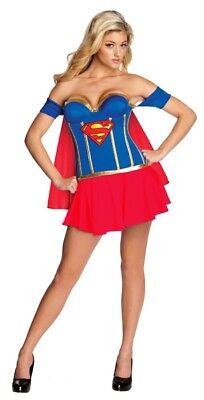 Damen Kostüm Sexy Superhero Girl mit Cups Karneval 34-38 Superheldin Heldin
