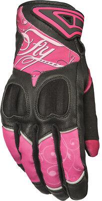 FLY STREET Women's VENUS Touchscreen Motorcycle Gloves (Pink/Black) Choose Size