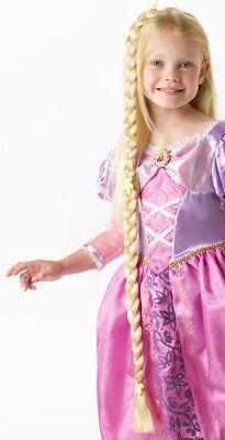 Rapunzel Zopf mit Goldsträhnen NEU - Karneval Fasching Perücke Haare