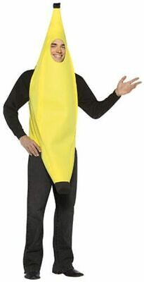 Banana Adult Costume Yellow Fruit Food Halloween Rasta Imposta One size