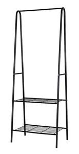 NEW Homebi Garment Rack Metal Clothing Rack Coat Organizer Laundry Closet Storage Entrway Shelving Unit with Hanger a...