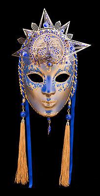 Mask Venice Moon & Sun Paper Mache & Metal-Ht of the Range 2139 -gar9